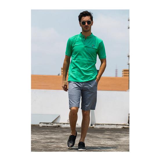 CLEAR เสื้อโปโล สีเขียว รุ่น คอจีน