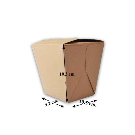 ตราสนคู่ กล่องบะหมี่ take away ด้านในขาว 25ชิ้น x 8แพ็ค (ยกลัง)