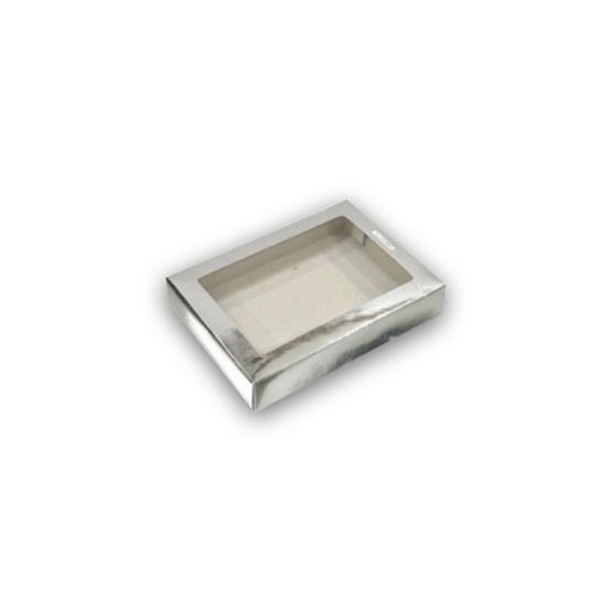 ตราสนคู่ กล่องเอนกประสงค์ No.1 สีเงิน เจาะรู 10ชิ้น x 5แพ็ค (50ชิ้น)