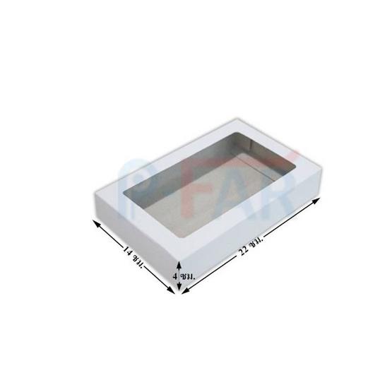 ตราสนคู่ กล่องเอนกประสงค์ No.3 สีขาว เจาะรู 10ชิ้น x 5แพ็ค (50ชิ้น)