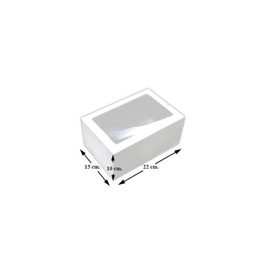 ตราสนคู่ กล่องเอนกประสงค์ No.5 สีขาว เจาะรู 10ชิ้น x 5แพ็ค (50ชิ้น)