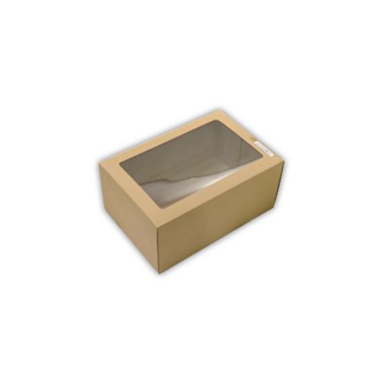 ตราสนคู่ กล่องเอนกประสงค์ No.6 สีวอลนัท เจาะรู 10ชิ้น x 5แพ็ค (50ชิ้น)