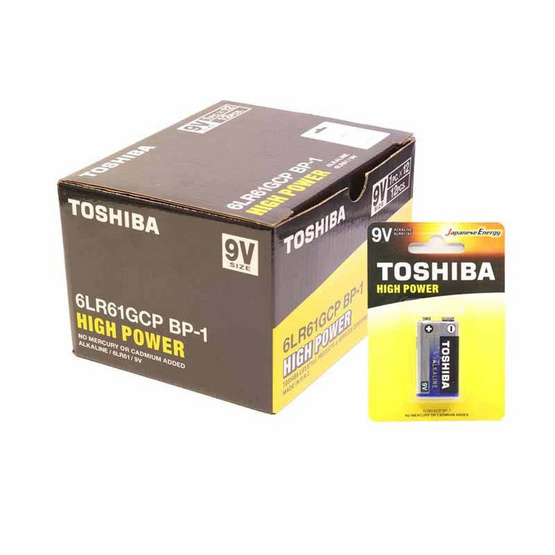 โตชิบา ถ่านอัลคาไลน์ High Power 9V 1 กล่อง 12 ก้อน