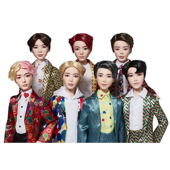 Set BTS Idol Doll 7 ชิ้น + ของแถมUNO BTS