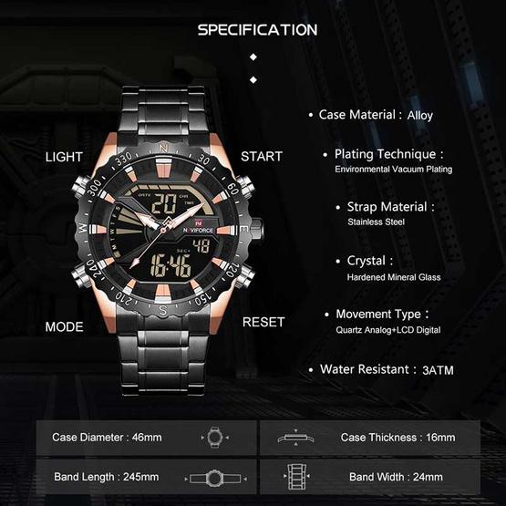 Naviforce นาฬิกา รุ่น NF9136S