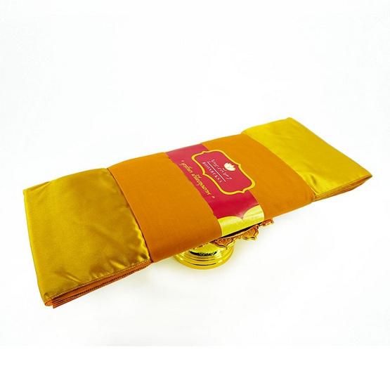 Boonruksa บุญรักษา ผ้าไตรอาศัย โทเร 1.90ม. สีพระราช (1ชุด)
