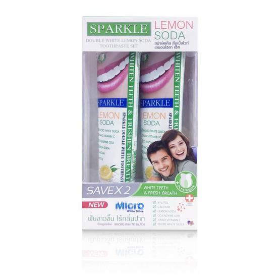 Sparkle ยาสีฟัน White Lemon Soda 100g. SK0084 (แพ็ค2)