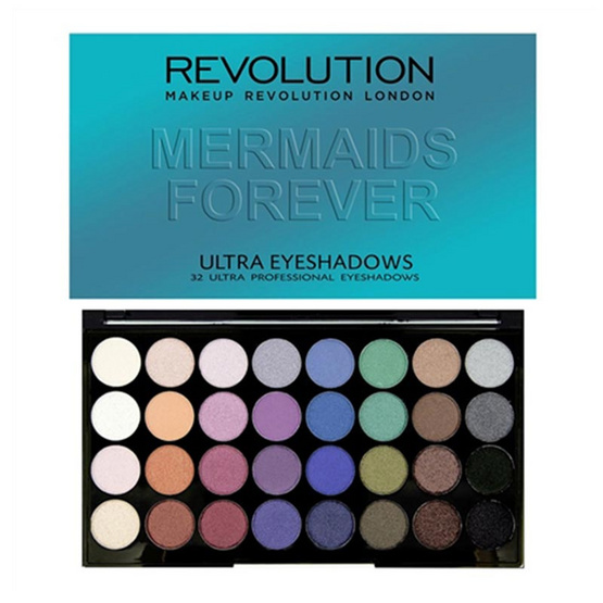 Makeup Revolution 32 Eyeshadow Palette Mermaids Forever