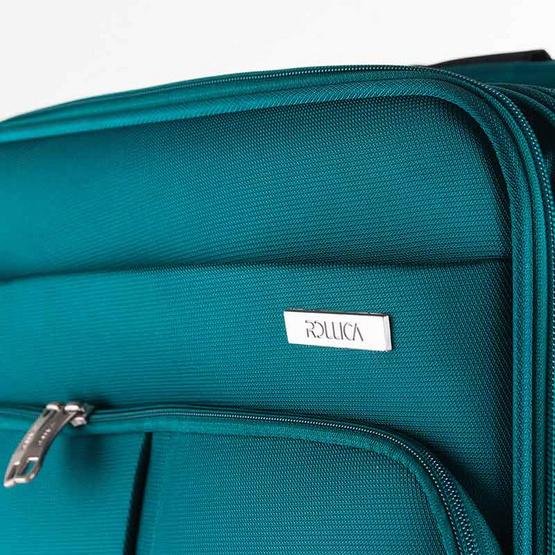 Rollica กระเป๋าเดินทางแบบผ้าไนล่อน ขนาด 24 นิ้ว รุ่น AIRY LITEเขียว