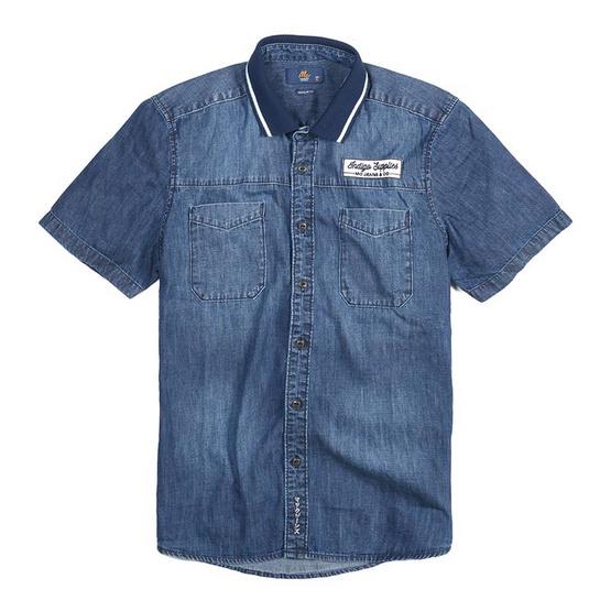Mc Jeans เสื้อเชิ้ตผู้ชาย แขนสั้น รุ่น MSSZ048
