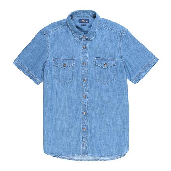 Mc Jeans เสื้อเชิ้ตผู้ชาย แขนสั้น รุ่น MSSZ049
