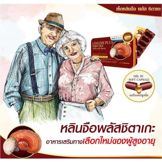 Donutt หลินจือพลัสชิตาเกะ 30 แคปซูล 6 กล่อง แถมกาแฟผสมถั่งเช่าและสารสกัดเห็ดหลินจือ 1 กล่อง