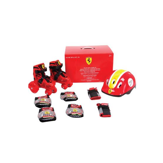 FERRARI รองเท้าสเก็ตเฟอร์รารี่ พร้อมอุปกรณ์ป้องกัน รุ่น FK10-1 สีแดง