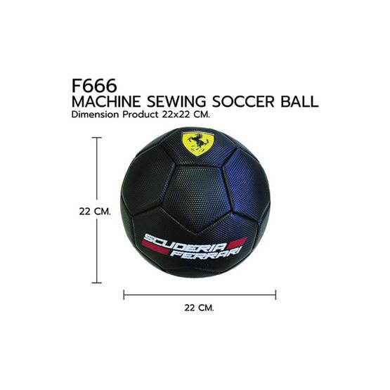 FERRARI ลูกฟุตบอลเฟอร์รารี่ รุ่น F666 เบอร์ 5 สีดำ