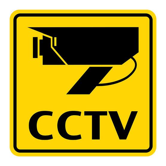 PANKOป้ายสัญลักษณ์ CCTV 12x12 ซม.