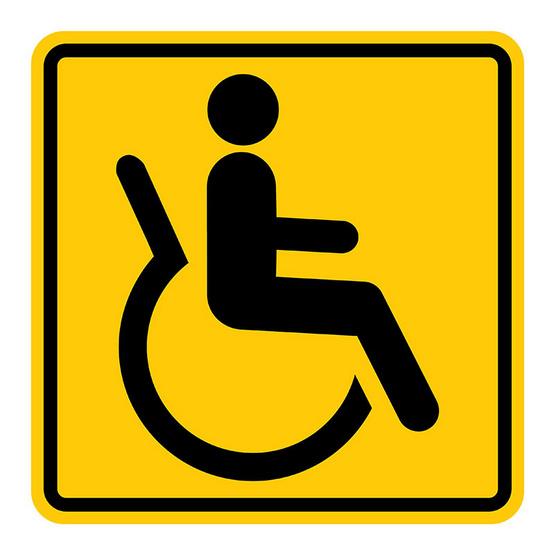PANKOป้ายสัญลักษณ์ คนพิการ 12x12 ซม.