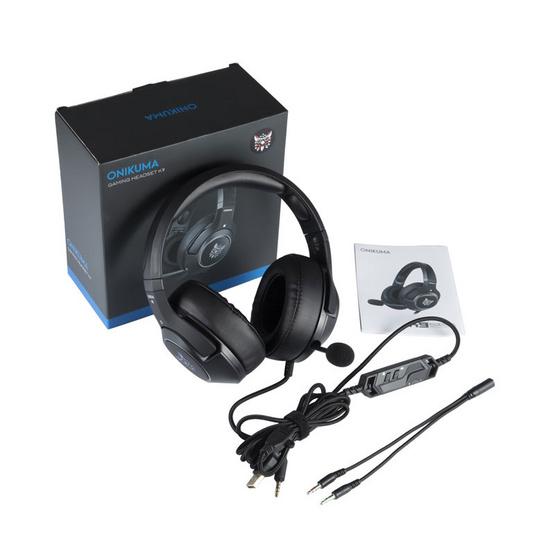 Onikuma หูฟัง Gaming รุ่น K9 Retractable Mic Giming Headset