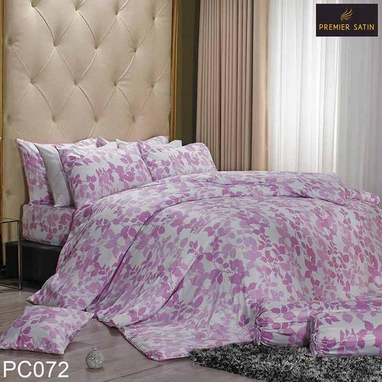 Premier Satin  ชุดผ้าปูที่นอน Royal Touch 6 ฟุต 5 ชิ้น + ผ้านวม PC072