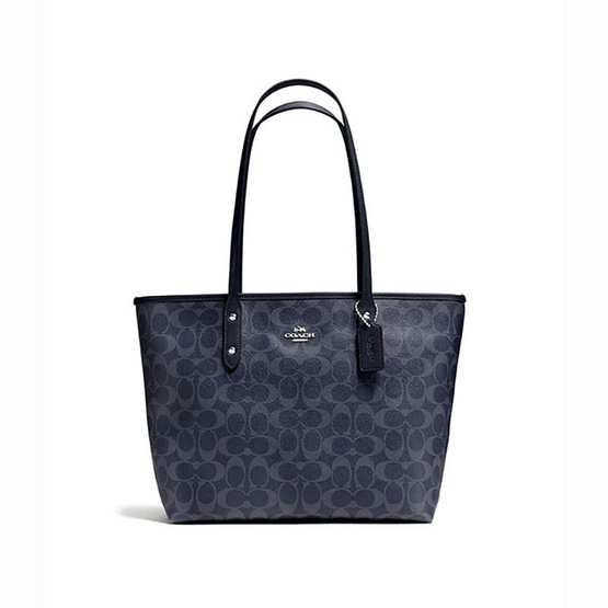 COACHF37475 CITY ZIP TOTE IN SIGNATURE CANVAS  (SVDE) [MCF37475SVDE]