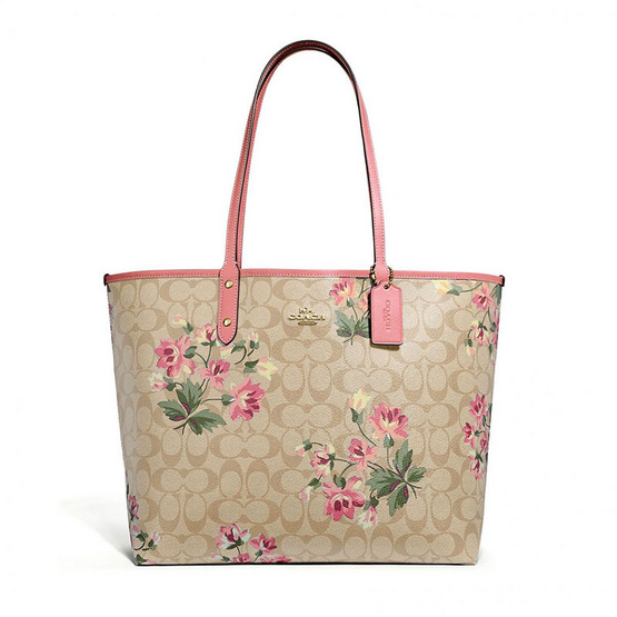 COACHF72844 REVERSIBLE CITY TOTE IN SIGNATURE CANVAS WITH LILY PRINT (IMOTN) [MCF72844IMOTN]