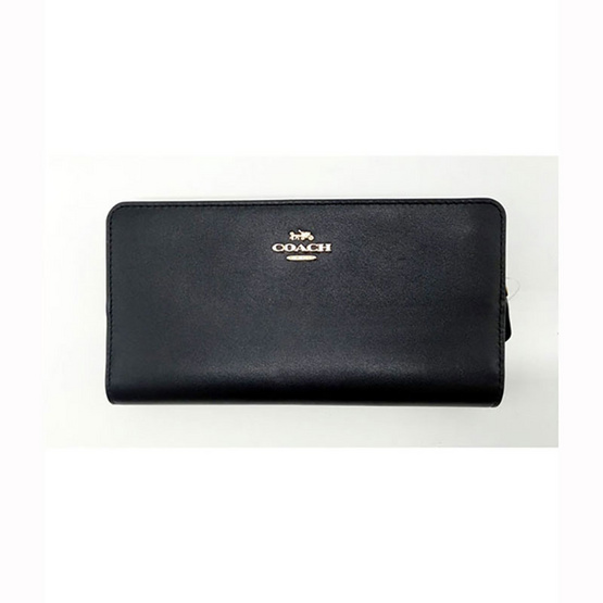 COACH F68399 Smooth Leather Skinny Wallet Long Wallet (IMBLK) [MCF68399IMBLK]