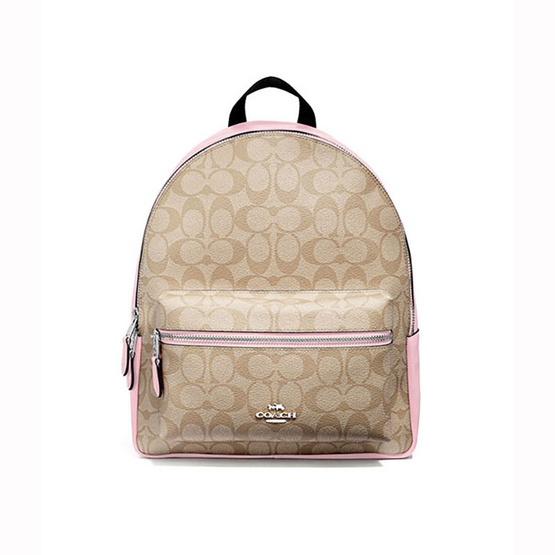 COACHF32200 MEDIUM CHARLIE BACKPACK IN SIGNATURE CANVAS (SVOSA) [MCF32200SVOSA]
