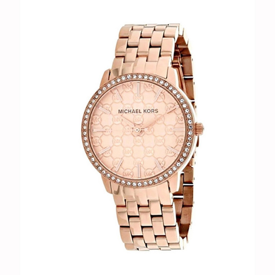 Michael MK3156 Argyle Logo Rose Gold-Tone Stainless Stee Ladies Watch [MCMK3156]