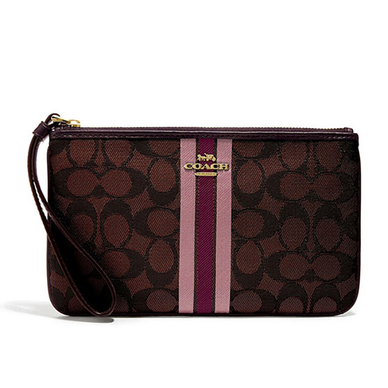 COACHF43009 LARGE WRISTLET IN SIGNATURE JACQUARD WITH STRIPE  (IMBMC) [MCF43009IMBMC]