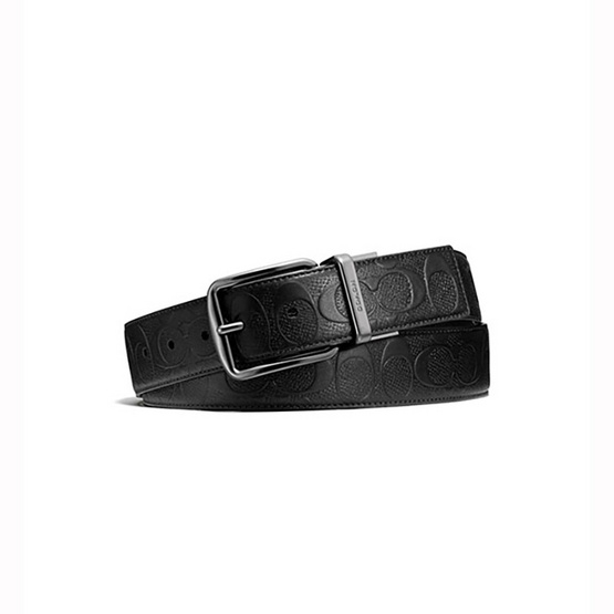 COACH F55157 WIDE HARNESS CUT-TO-SIZE REVERSIBLE SIGNATURE LEATHER BELT (BLK) [MCF55157BLK]