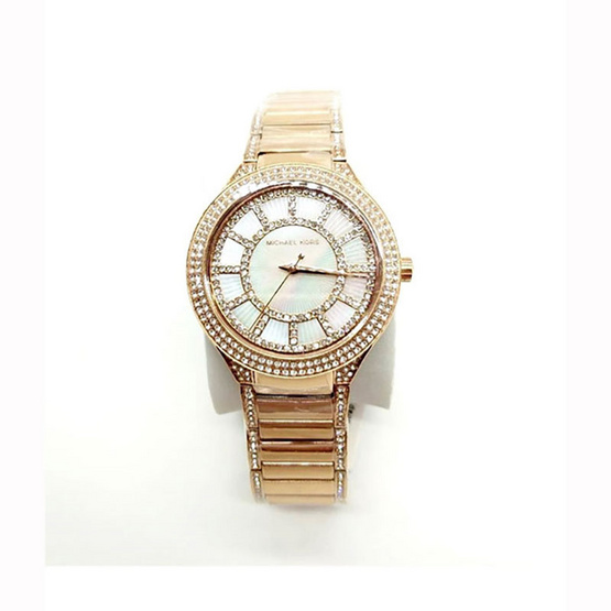 Michael MK3313 Kerry Mother of Pearl Dial Rose Gold-tone Ladies Watch [MCMK3313]