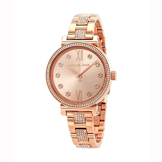 Michael MK3882 Sofie Crystal Rose Dial Ladies Watch [MCMK3882]