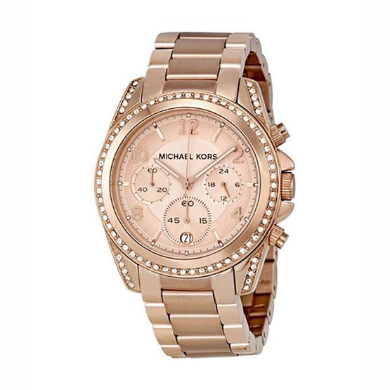 Michael MK5263 Blair Chronograph Rose Dial Ladies Watch [MCMK5263]