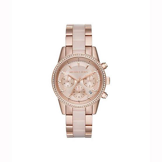 Michael MK6307 Ritz Quartz Chronograph Rose Dial Rose Gold-tone Pink Acetate Ladies Watch [MCMK6307]