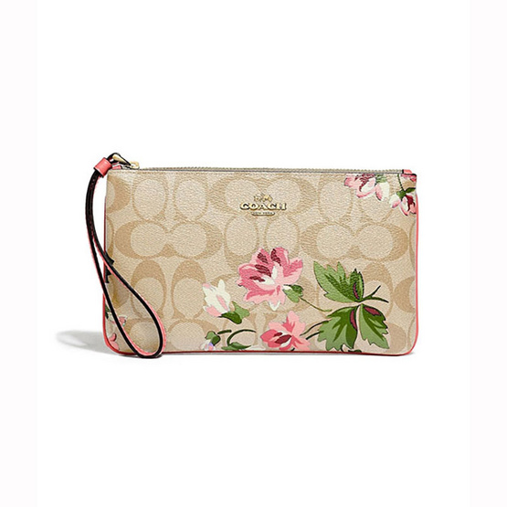COACHF73368LARGE WRISTLET IN SIGNATURE CANVAS WITH LILY PRINT  (IMOE3) [MCF73368IMOE3]