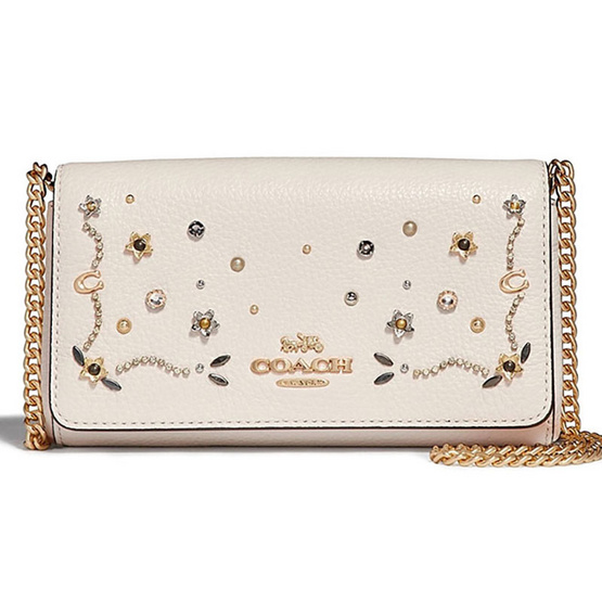 COACHF56272 CROSSBODY WITH STARDUST CRYSTAL RIVETS (IMCAH) [MCF56272IMCAH]