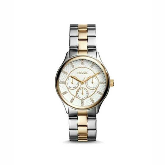 Fossil BQ1564 Silver Dial Two Tone Stainless Steel Ladies Fashion Watch [MCBQ1564]