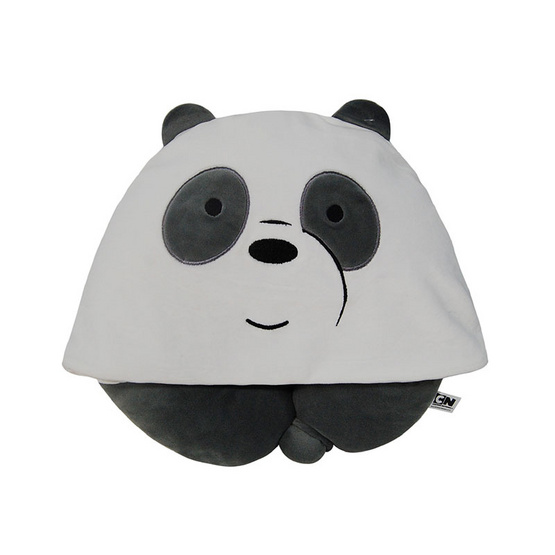 We Bare Bears หมอนรองคอมีฮู้ดกระดุมติด -แพนแพน