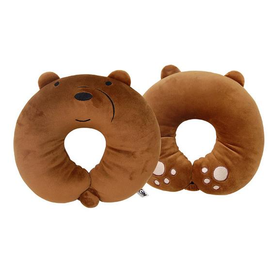 We Bare Bears หมอนรองคอตัวซีกระดุมติด-หมีกรีซ