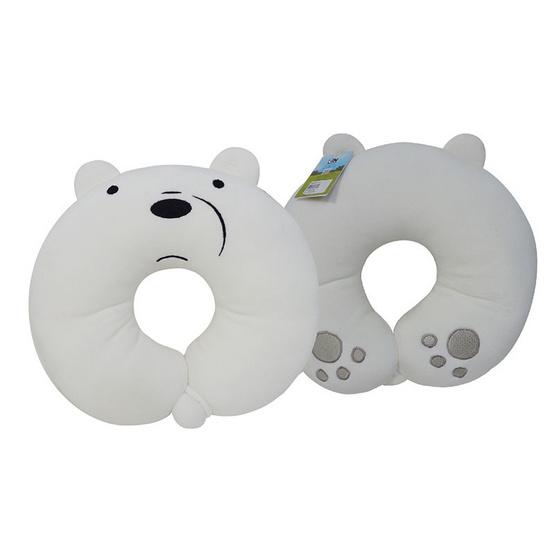 We Bare Bears หมอนรองคอตัวซีกระดุมติด-ไอซ์แบร์