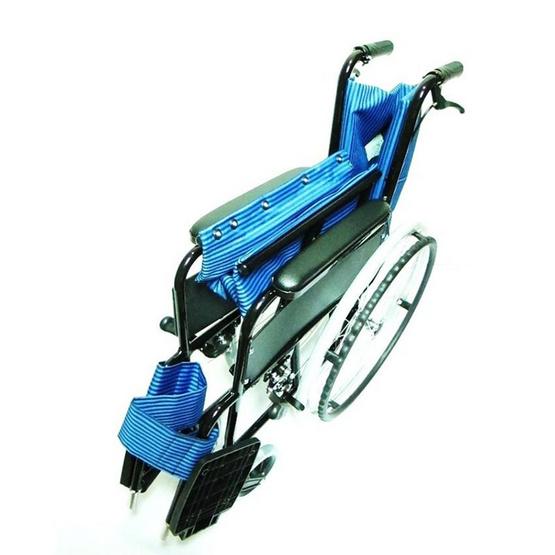 Abloom Wheelchair รถเข็นผู้ป่วย อลูมิเนียม ล้อใหญ่ - สีฟ้า