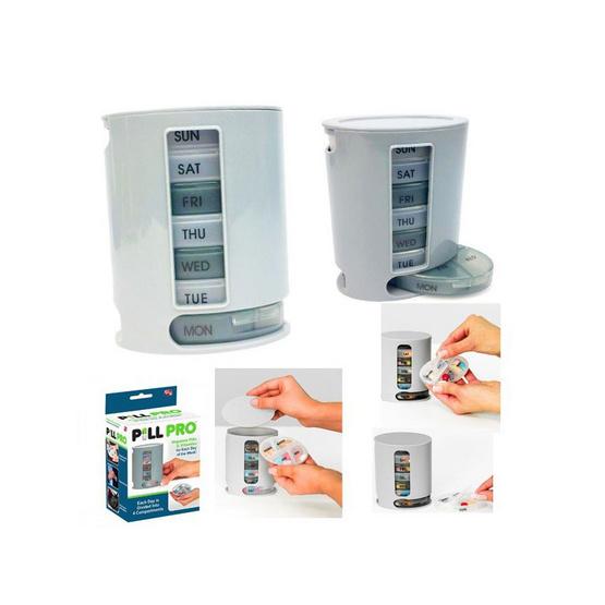 Abloom กล่องยา ตลับยา 7 ชั้น สำหรับ 7 วัน Pill Pro 7-Day Pill Box