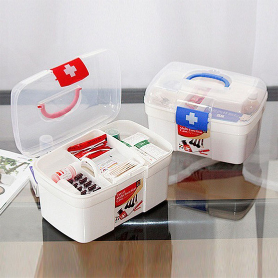 Abloom กล่องยาและกล่องใส่ของ สำหรับปฐมพยาบาล อุปกรณ์ทางการแพทย์ คละสี