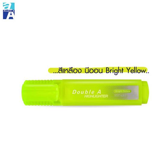 Double A ปากกาเน้นข้อความ รุ่นFlat Highlighter Bright (กล่อง10ด้าม)