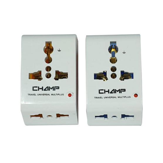 Champ ปลั๊ก 3 ทาง สีหวาน รุ่น CH-803-A