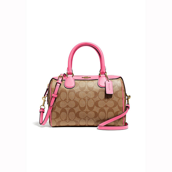 กระเป๋า COACH F32203 MINI BENNETT SATCHEL IN SIGNATURE CANVAS (IMCMY) [MCF32203IMCMY]