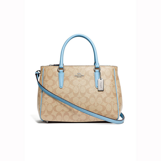 กระเป๋า COACH F67026SURREY CARRYALL IN SIGNATURE CANVAS (SVCA0) [MCF67026SVCA0]