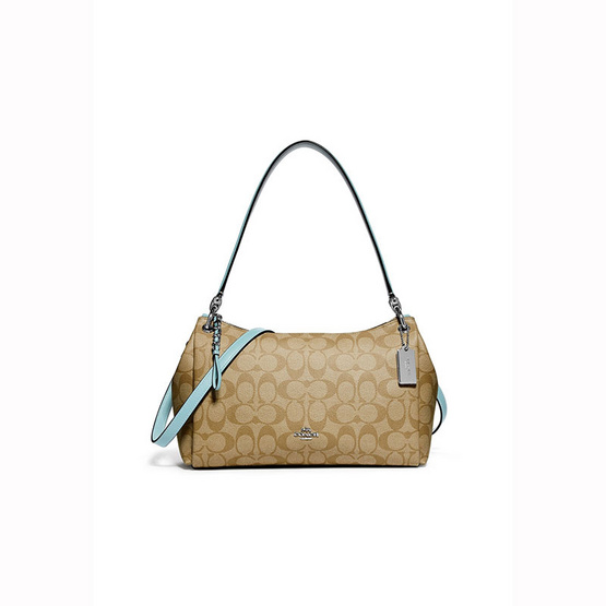 กระเป๋า COACH F73177  SMALL MIA SHOULDER BAG IN SIGNATURE CANVAS (SVOUP) [MCF73177SVOUP]