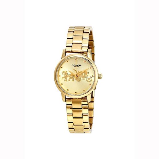 Coach นาฬิกา 14502976 Grand Gold Dial Yellow Gold-tone Ladies Watch [MC14502976]