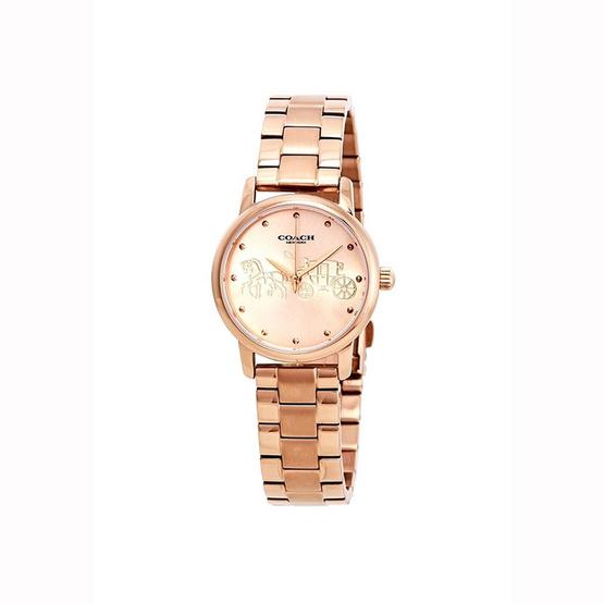 นาฬิกา Coach 14502977 Grand Rose Gold-tone Dial Ladies Watch [MC14502977]