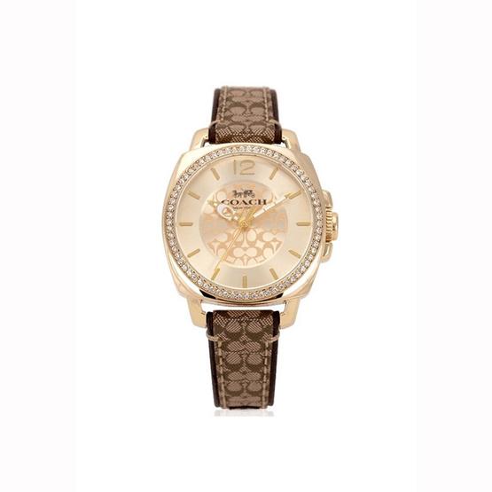 นาฬิกา Coach 14503150 Signature Brown Gold Tone Watch [MC14503150]